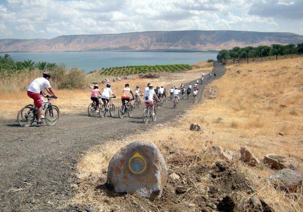 טיול אופניים בשביל צופה כנרת
